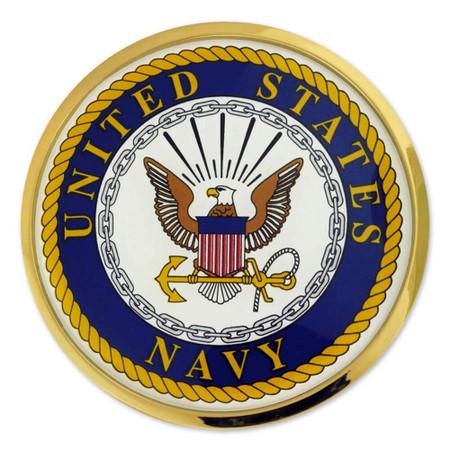 US Navy Chrome Emblem Decal