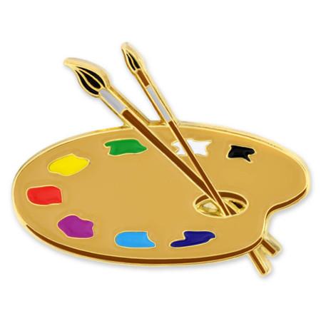Paint Palette Pin Front