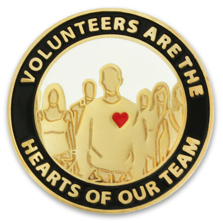 Volunteers are Hearts Pin