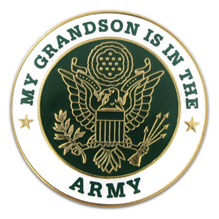 U.S. Army Grandson Pin Front