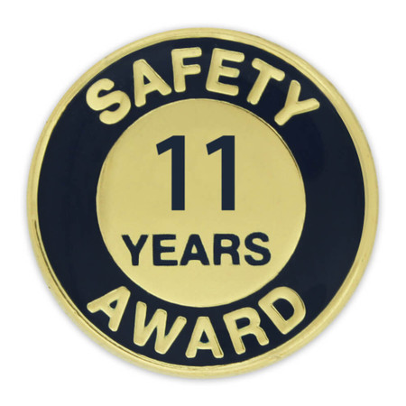 Safety Award Pin - 11 Years Front
