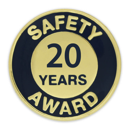 Safety Award Pin - 20 Years Front