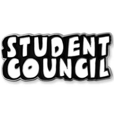 Student Council Word School Pin