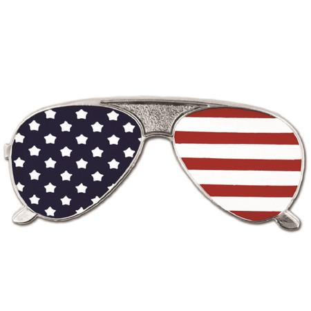 American Flag Sunglasses Pin