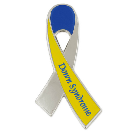 Down Syndrome Awareness Ribbon Pin Front