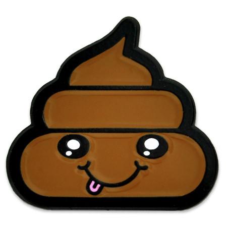 Poop Emoji Pin Front