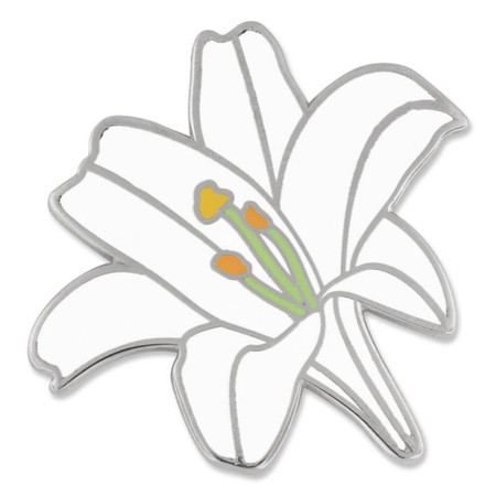 Lily Flower Pin Front