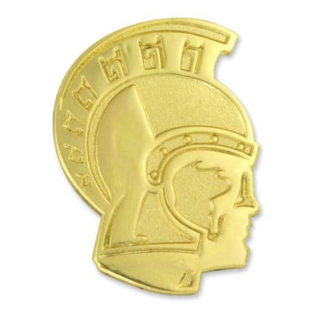 Trojan Mascot Chenille Lapel Pin Front