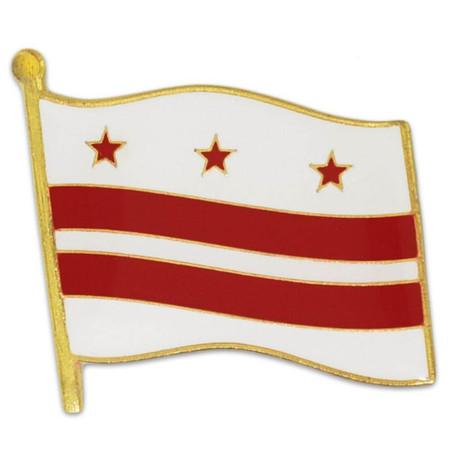 Washington DC Flag Pin Front