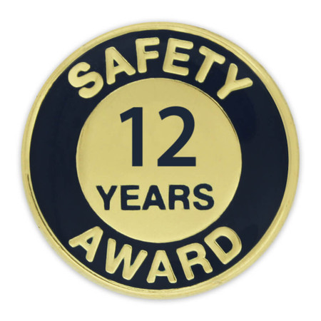 Safety Award Pin - 12 Years Front