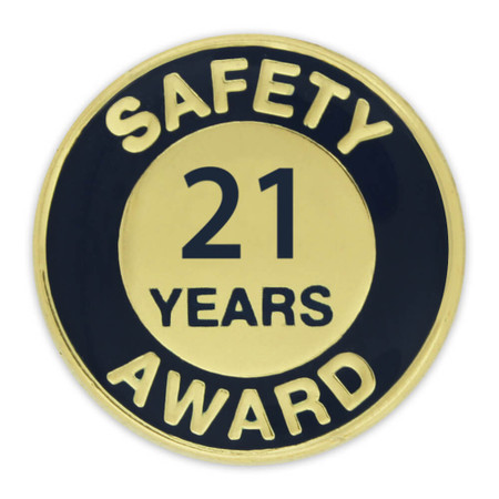 Safety Award Pin - 21 Years Front