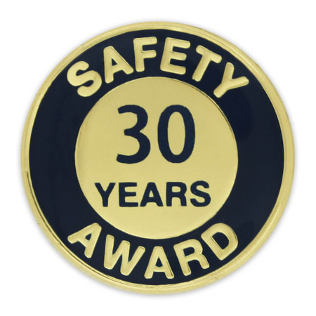 Safety Award Pin - 30 Years Front