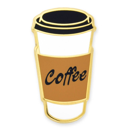 Coffee To-Go Cup Pin Front