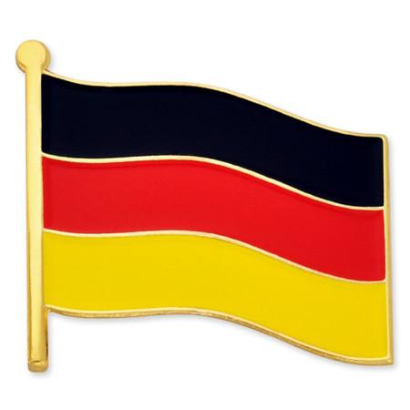 German Flag Pin Front
