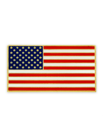 American Flag Pin with Magnetic Back Front