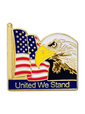 Flag Eagle Pin