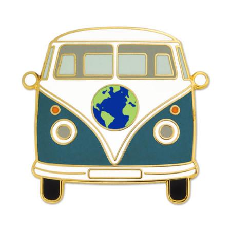 World Hippie Bus Lapel Pin Front