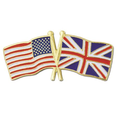 USA and United Kingdom Flag Pin