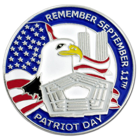 9-11 Patriot Day Pin Front