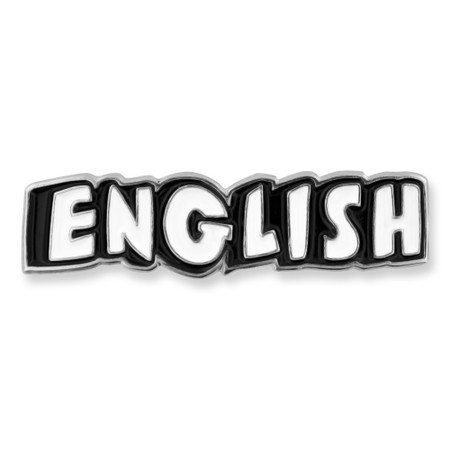 English Word School Pin