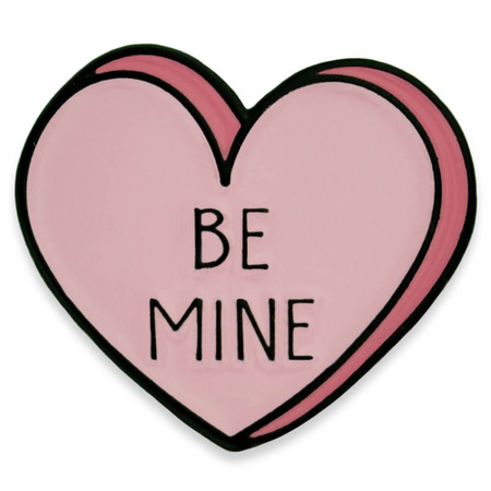 Be Mine Candy Heart Pin