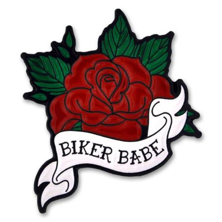 Biker Babe Pin Front