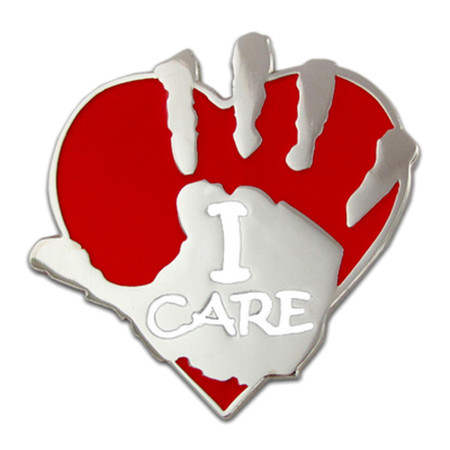 I Care Pin Front