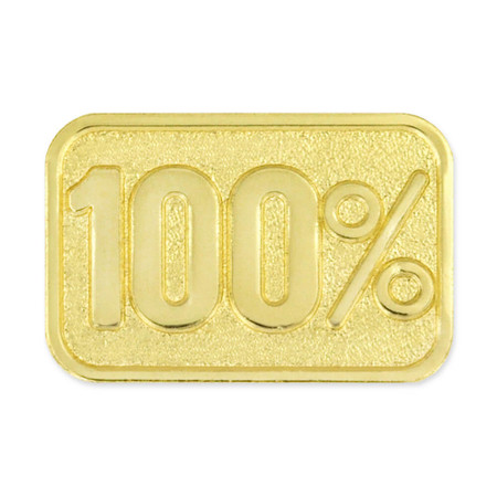 100% Lapel Pin Magnetic Back
