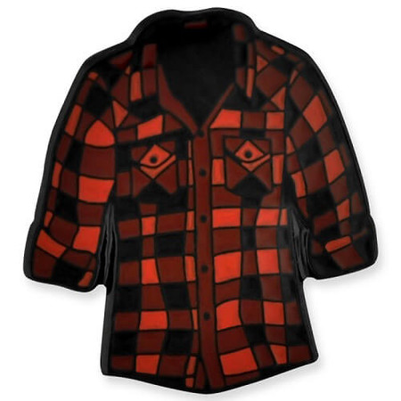 Red Flannel Shirt Pin Front