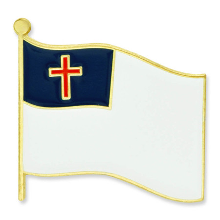 Christian Flag Pin Front