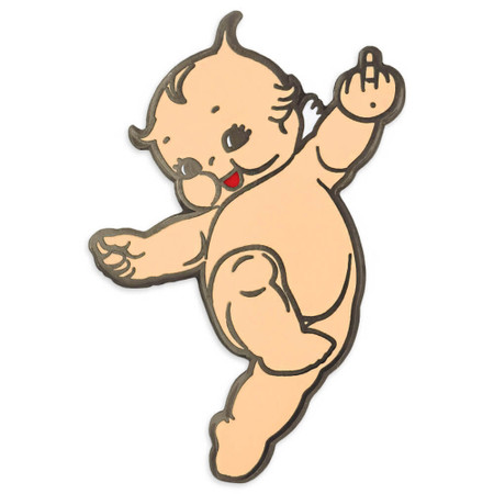 Naughty Kewpie Doll Pin Front