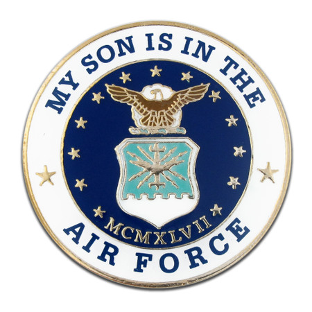 U.S. Air Force Son Pin Front
