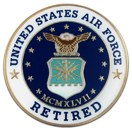 U.S. Air Force Retired Pin Front