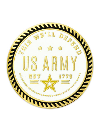U.S. Army - This W'ell Defend Pin Front
