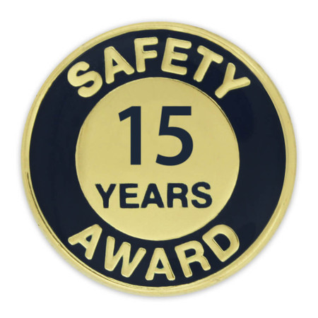 Safety Award Pin - 15 Years Front