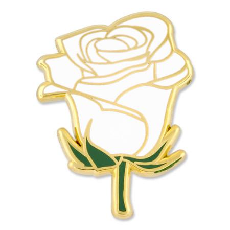 White Rose Pin Front