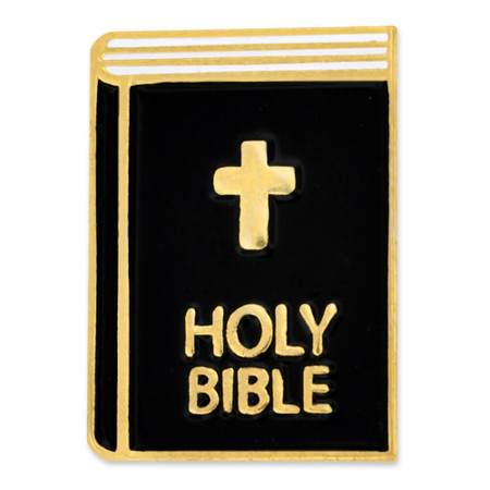 Holy Bible Pin Front