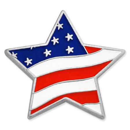 Flag Star Pin