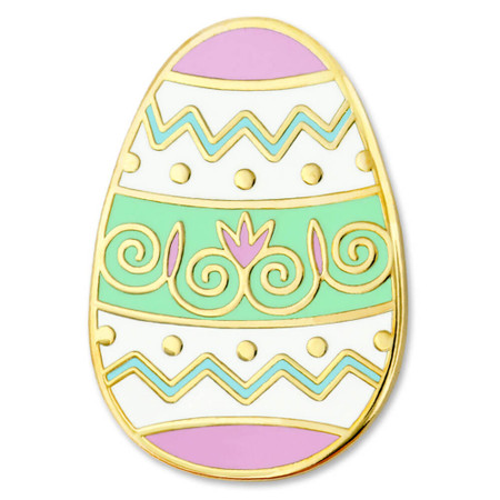 Decorated Easter Egg Pin Front