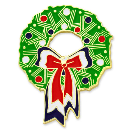 Christmas Wreath Pin Front