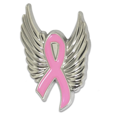 Breast Cancer with Wings Front
