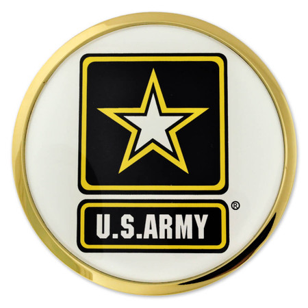 U.S. Army Chrome Emblem Decal Front