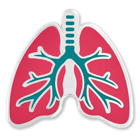 Human Lungs Lapel Pin Front