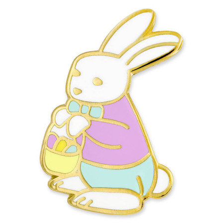 Easter Bunny Pin Front