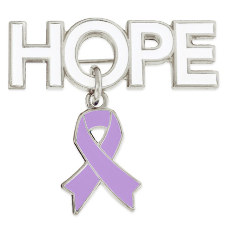 Hope Pin with Lavender Ribbon Charm