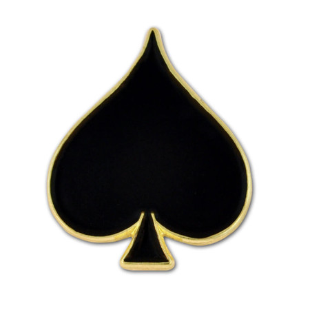 Black Spade Lapel Pin Front