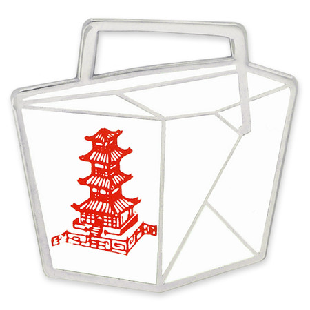 Chinese Take Out Box Pin Front