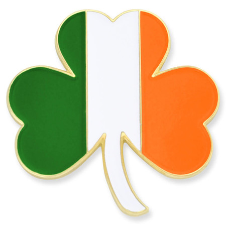 Shamrock Irish Flag Pin Front