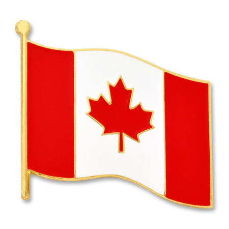 Canadian Flag Pin Front