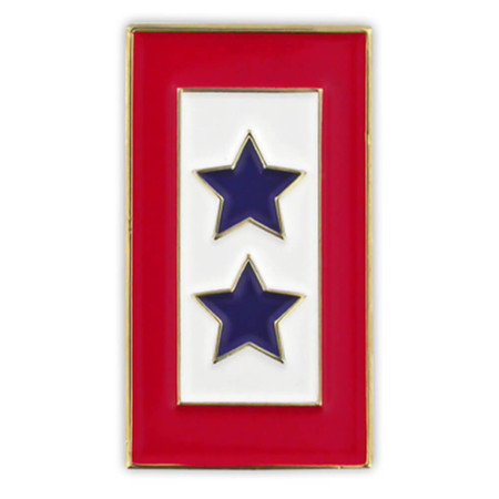 Blue Stars Service Flag Pin Front